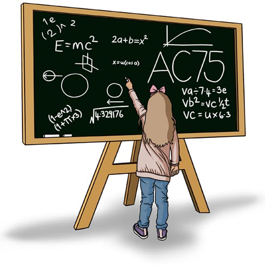 Blackboard with equations image